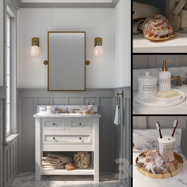 POTTERY BARN - CLASSIC SINGLE SINK VANITY