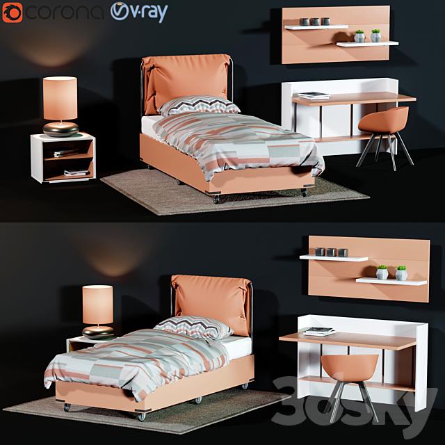 Childroom Full furniture set_3dce_2