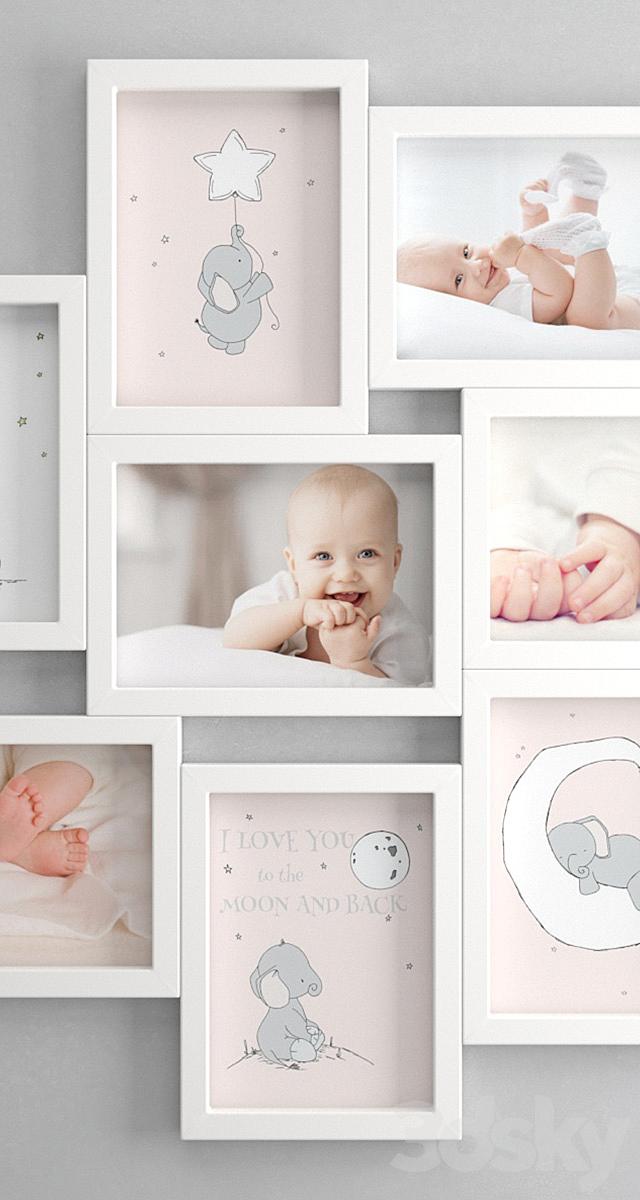 IKEA VEKSBU (OL Set for newborn girls)