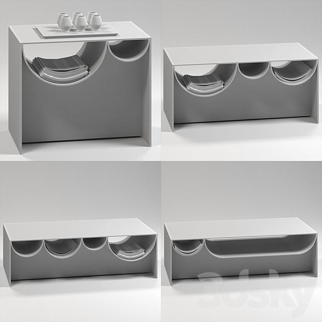 Minotti Waves tables (V-Ray)