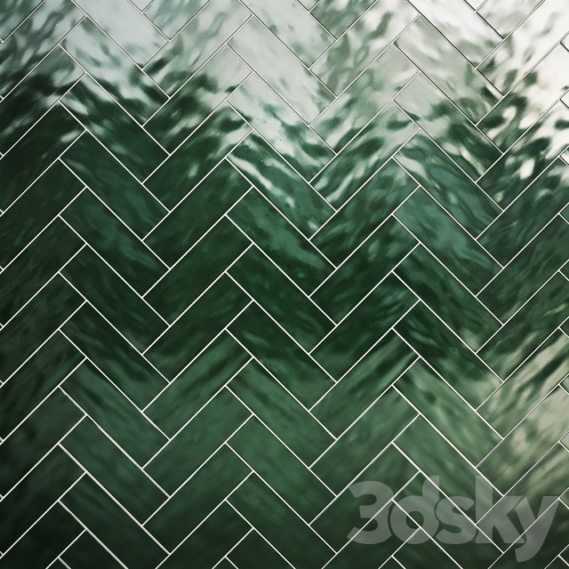 Green botle tiles