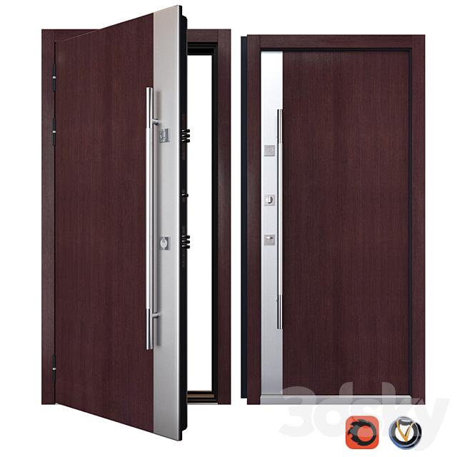 Entrance metal door Inox S-3 (Your Frame)