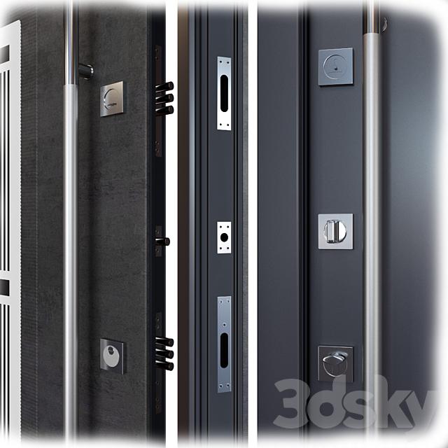 Entrance metal door Inox S-8 (Your Frame)