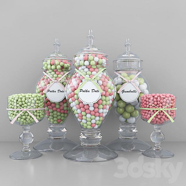 Polka dots candy jars
