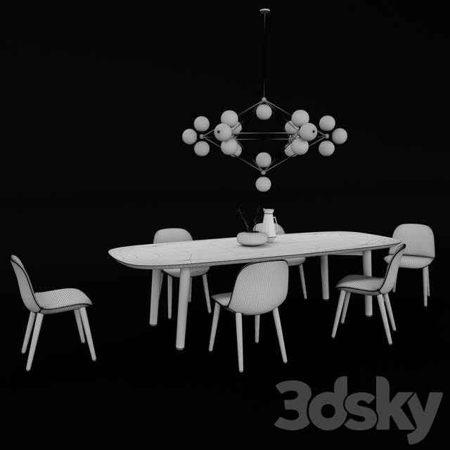 Poliform Mad Dining Table & Chair