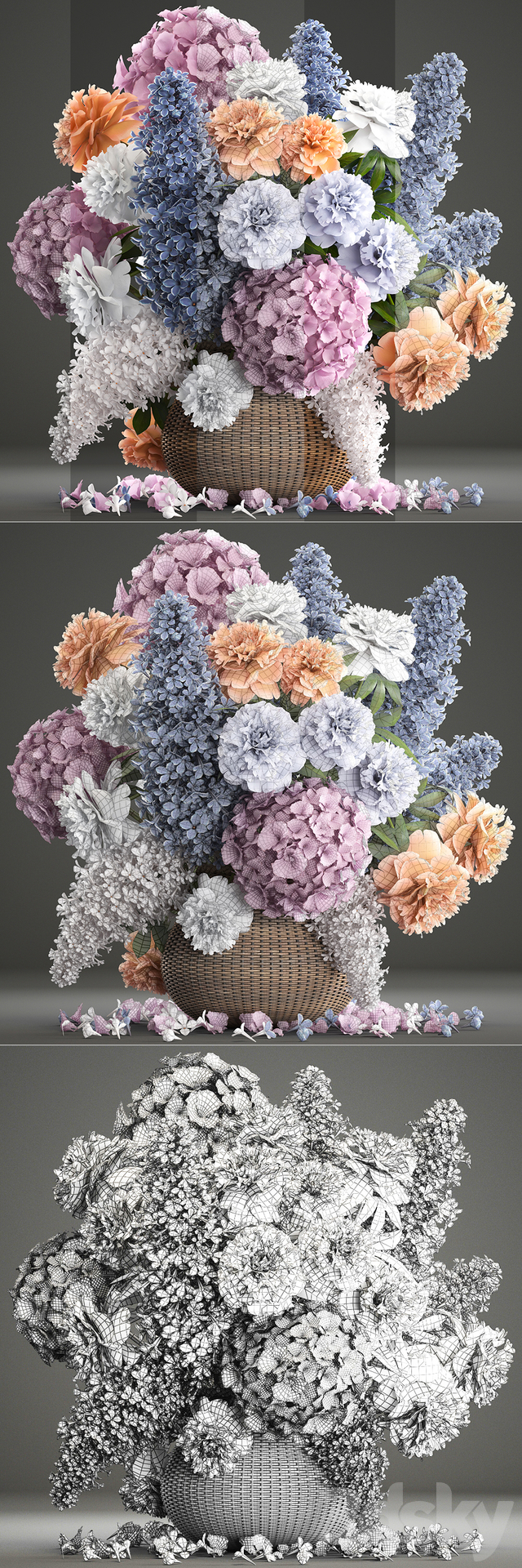 A bouquet of flowers 84.
