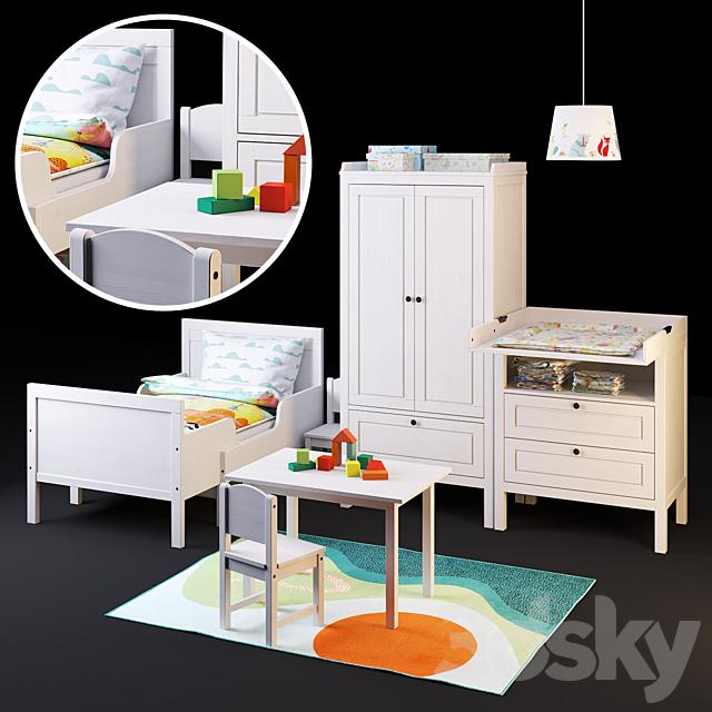 A set of furniture SUNDVIK from IKEA for children