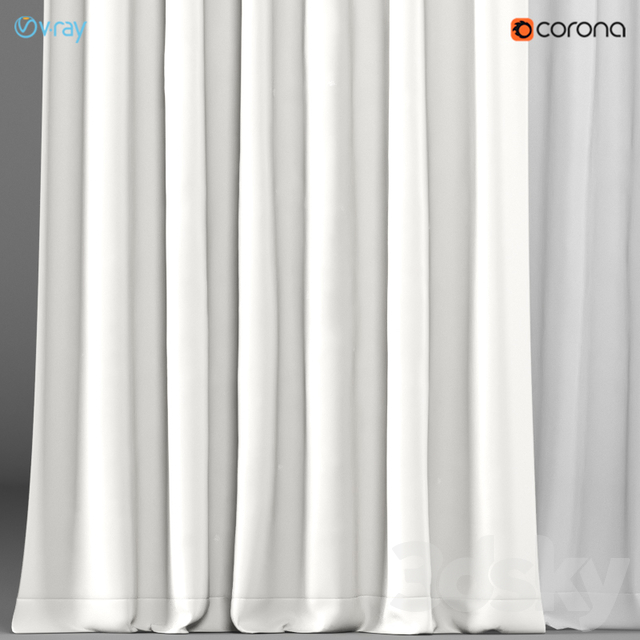 A series of curtains in 5 colors with tulle.