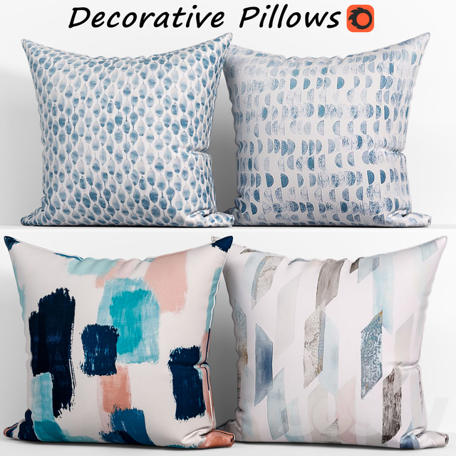 Decorative pillows set 161, West elm Organic Duvet