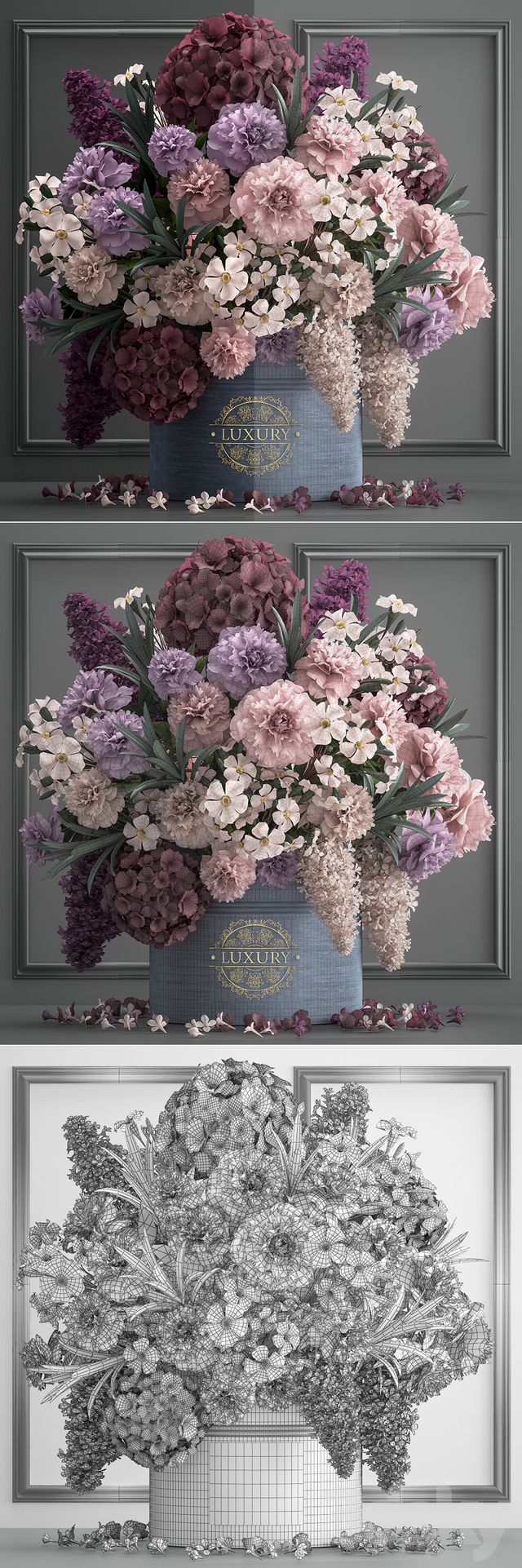 A bouquet of flowers in a gift box 87.