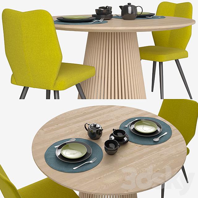 Chair_Tina_Table_Jeanette_La Forma (Julia Grup)