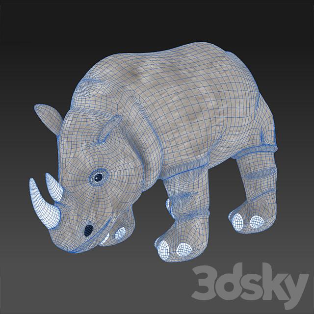 Soft toy, rhino DUNGEL