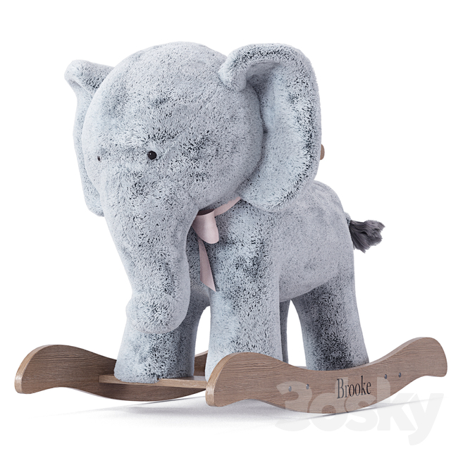 Rocking Toy Pottery Barn Kids Elephant Plush Rocker