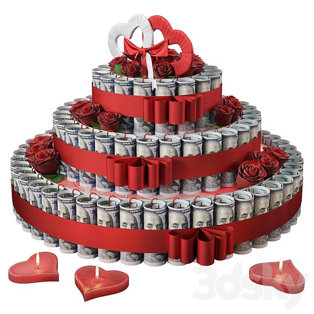 Wedding Money Cake
