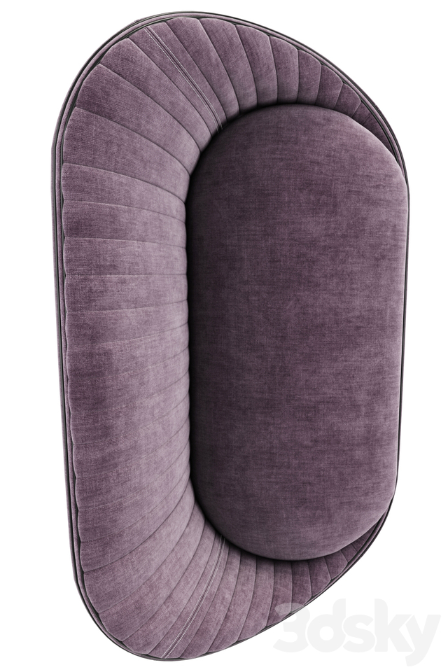 Ether Padded Strip Sofa With Pillow