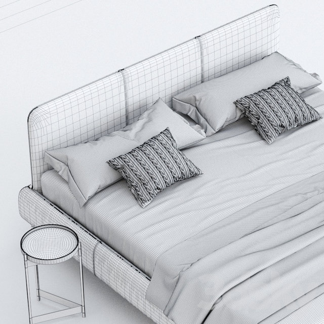 Bed with Aris grille, DITRE ITALIA factory, RELAX COLLECTION collection