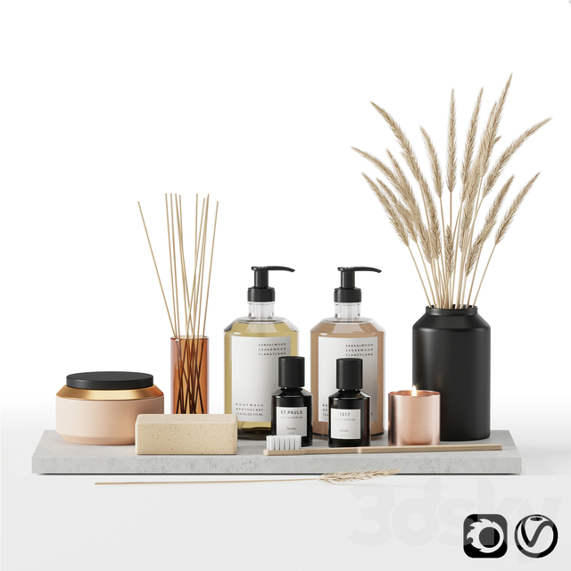 Bathroom accessories set 01