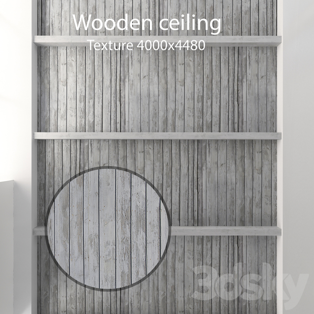 Wooden ceiling with beams 15