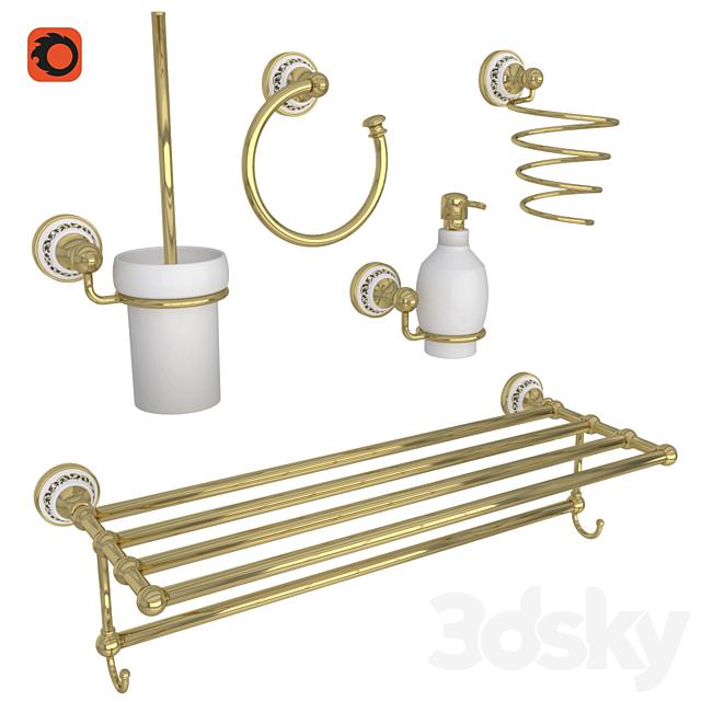 OM Fixsen Bogema Gold Bathroom Accessories