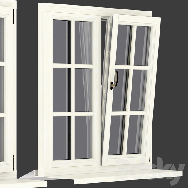 Wood - aluminum windows, view 05 part 01 set 05