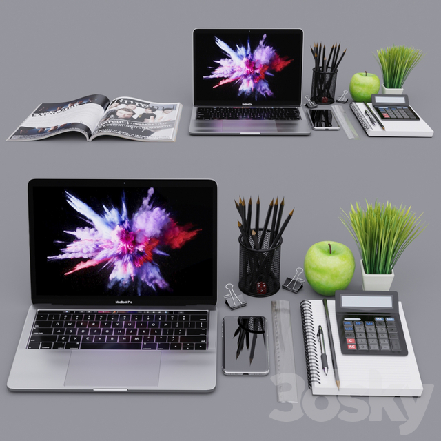 Apple MacBook Pro with decors