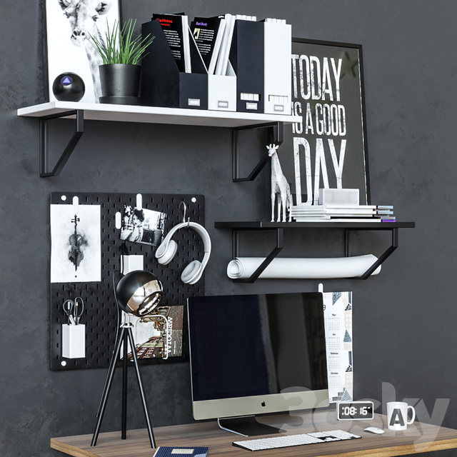 Workplace table ikea IDOSEN