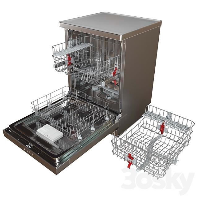 3d models: Kitchen appliance - Dishwasher HOTPOINT ARISTON