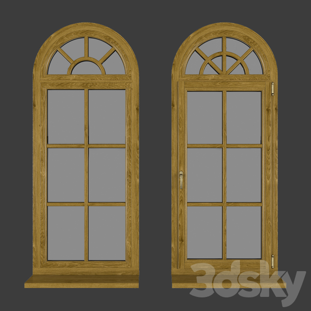 Wood - aluminum windows, view 05 part 02 set 02