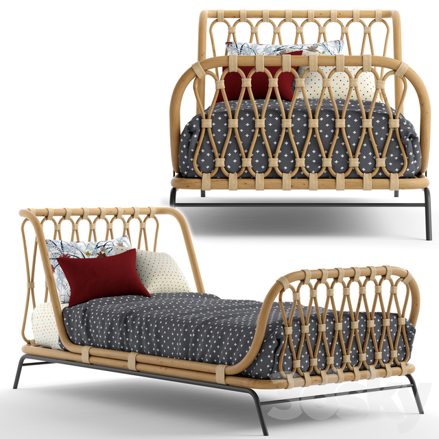 Great & Barrel_Rattan kids bed