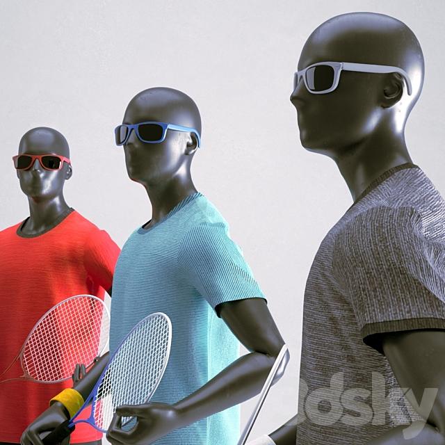 Tennis man mannequin