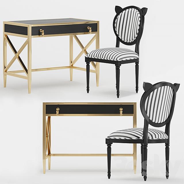 The Emily & Meritt X-Frame Metal Desk