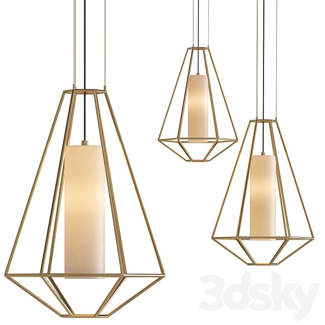 Silhouette 1-Light Gold Leaf Pendant
