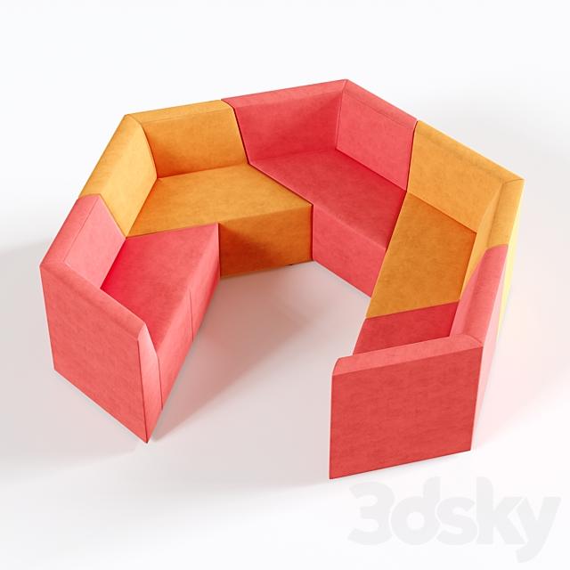 OM Sofa Origami 5-seater