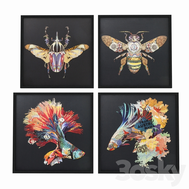 Pictures in frame Art Betta Fish Colore from Kare design