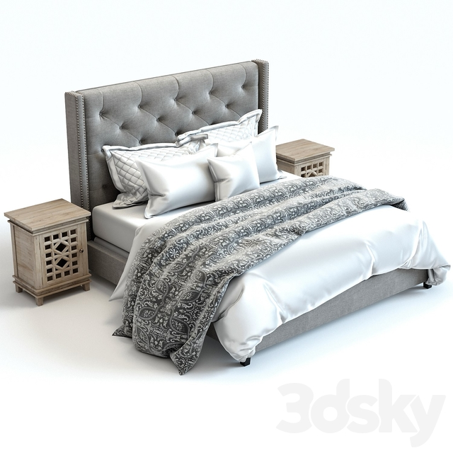 3d Models Bed Pottery Barn Harper Bed