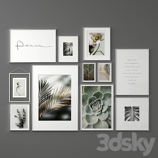 "Poster Set ""Leaves"""