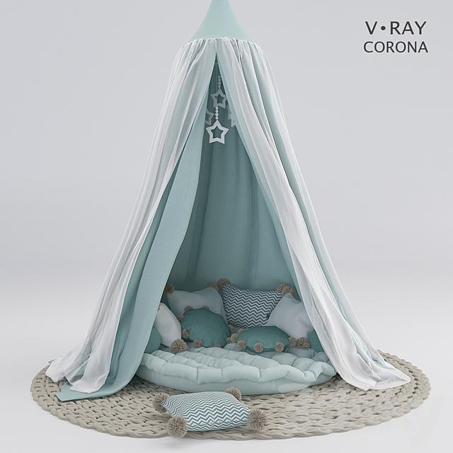 Nursery canopy with cushions # 2