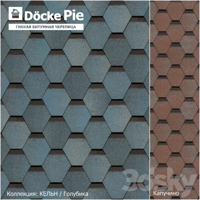 Seamless texture of shingles DOCKE collection Cologne