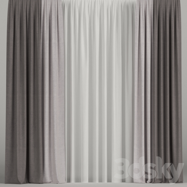 Curtain with tulle.