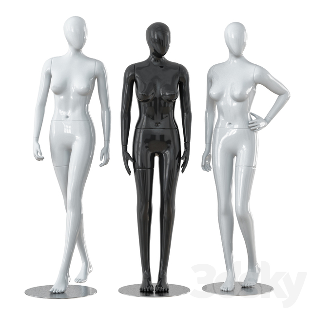 Three faceless female mannequins 28