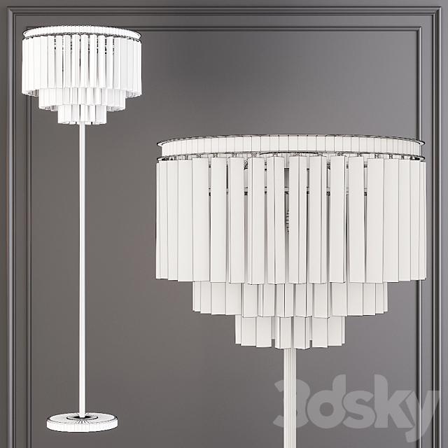 Restoration Hardware 1920S ODEON CLEAR GLASS FLOOR LAMP 3-TIER Black