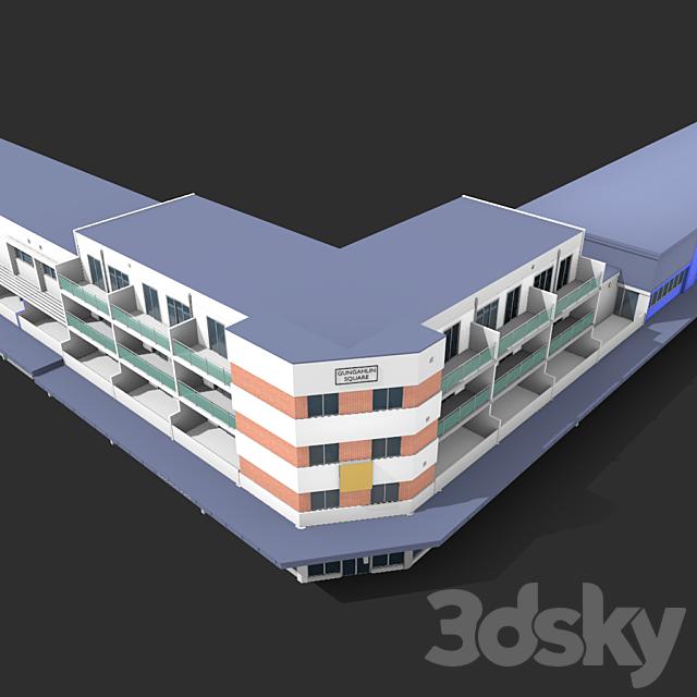 Long building