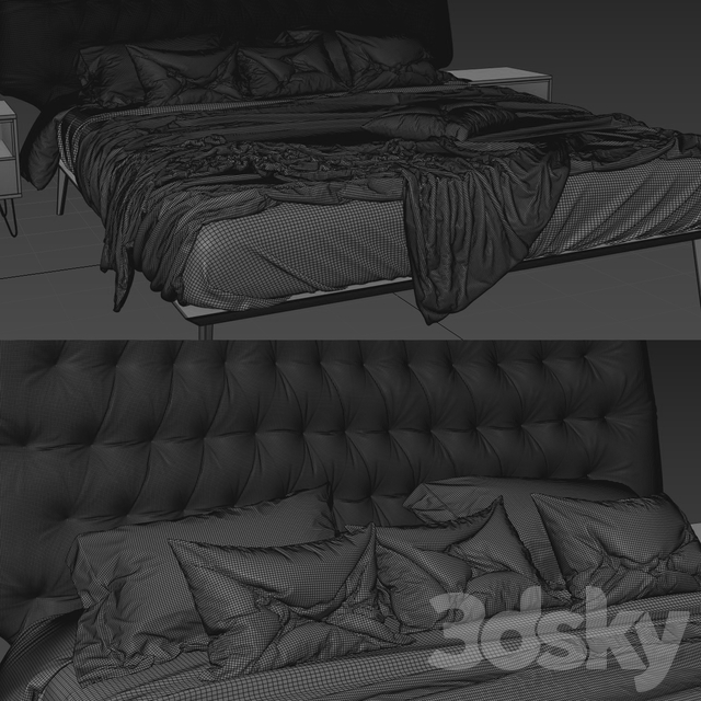 Bed natuzzi dolcevita