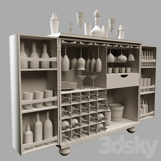 Vodka Bar Cabinet
