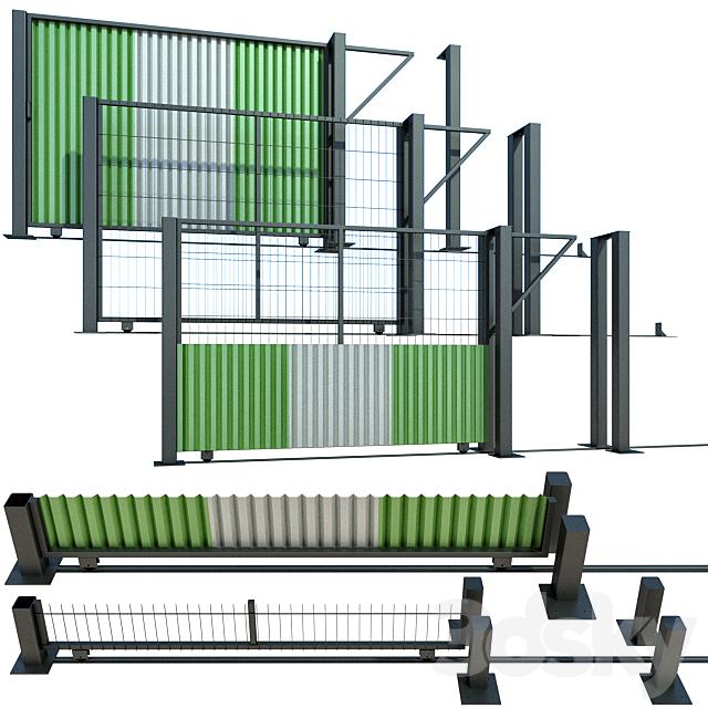 Sliding gate, gate for building, plot