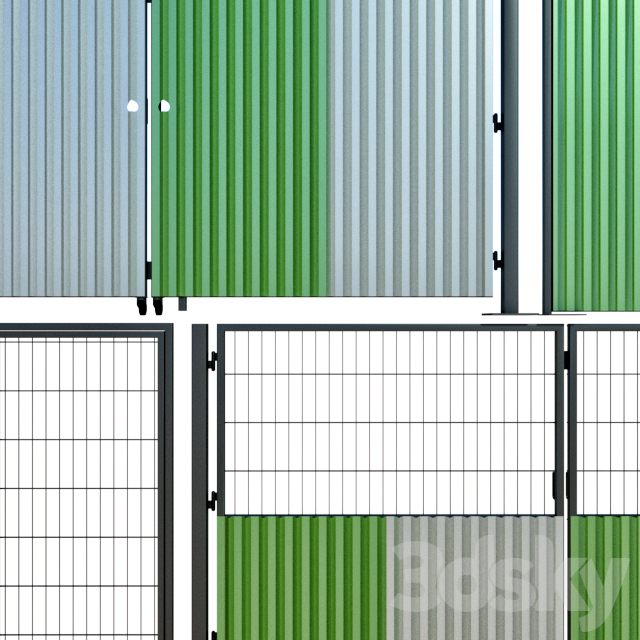 Oar gate, gate for building, a site
