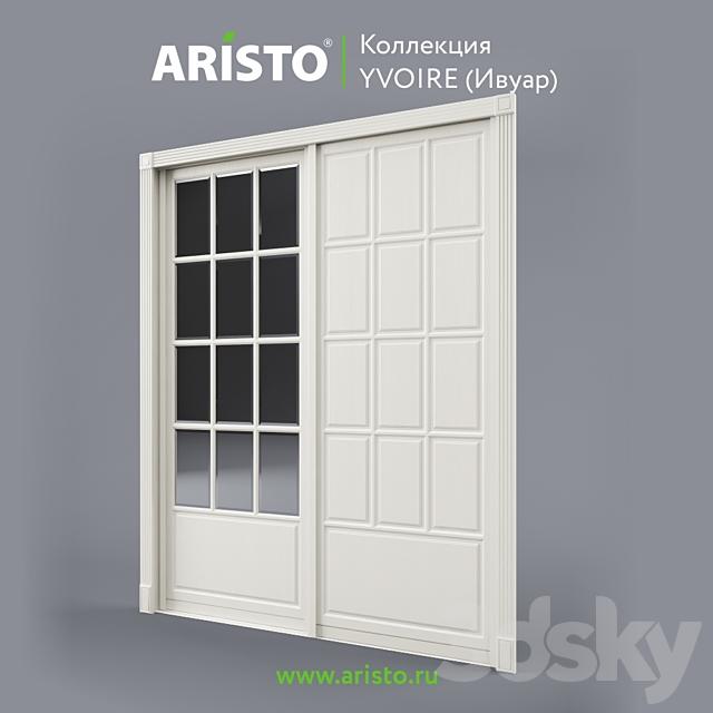 Sliding doors ARISTO, Ivoire, Yv.100.8, Yv.100.7