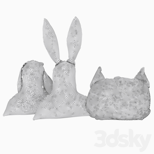 Pillows hare and cat from Kare design