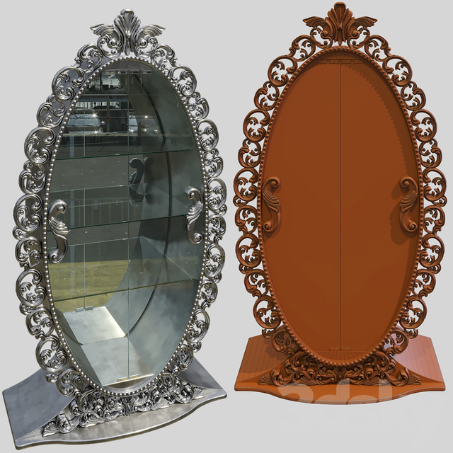 Oval display case Corella Arredamento