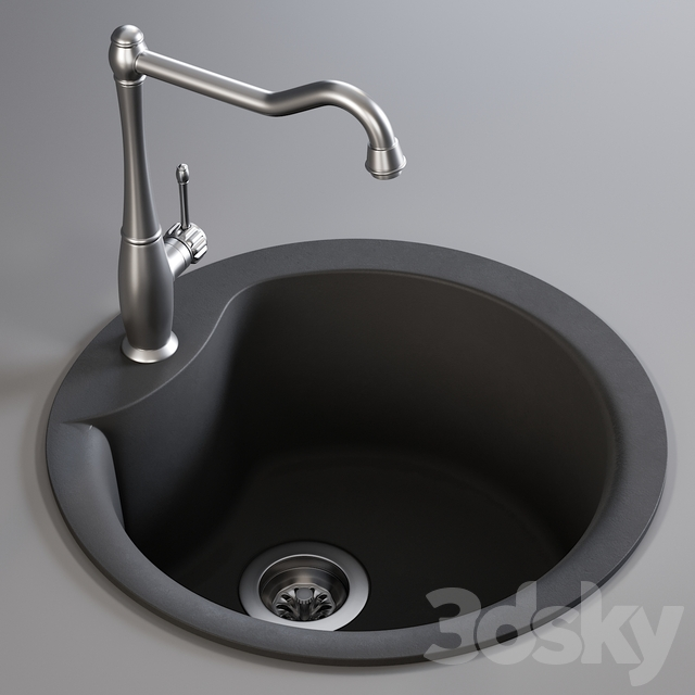 Sink Alba and Mixer MCO23